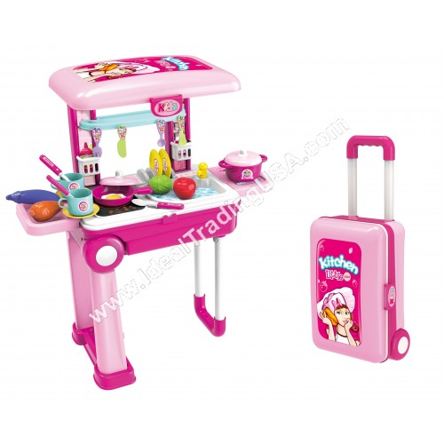 Travel luagge kitchen Set pink (9pcs/box)