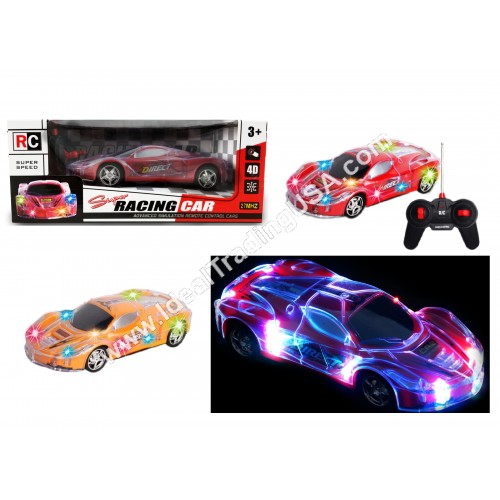 RC car with 4D lights Blue/Red/Organge colors (36pcs/box)