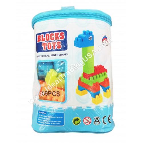 Block Set 69pcs PVC Bag (48pcs/box)
