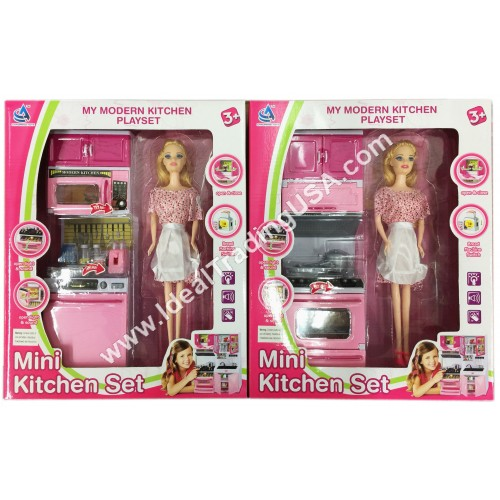 Kitchen Set w/music & sound (18pcs/box)