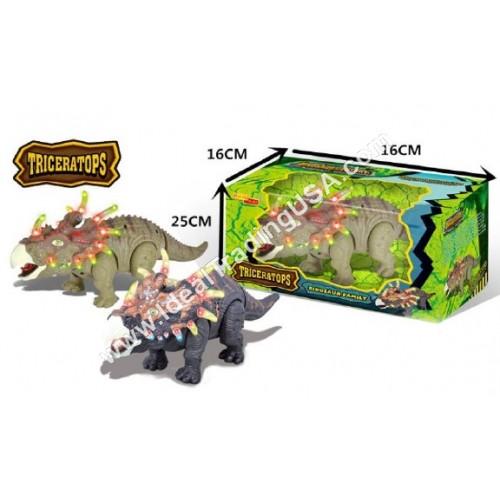 Walking Triceratop Dino Toy w/Sound (24pcs/box)
