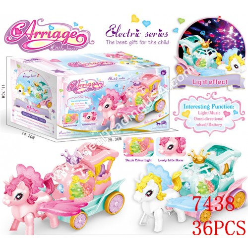 Unicorn Carriage with 3D Lights (36pcs/Box)