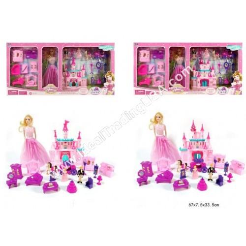 Doll Castle w/music & lights (12pcs/box)
