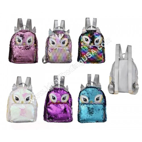 Sequin Owln Backpack (48pcs/box)