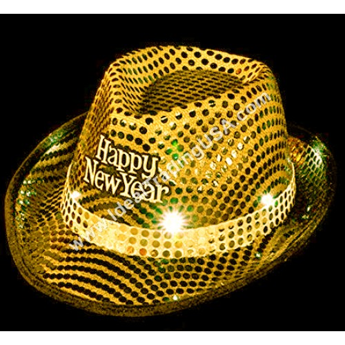 Happy New Year Hat with Lights (12dz/Box)