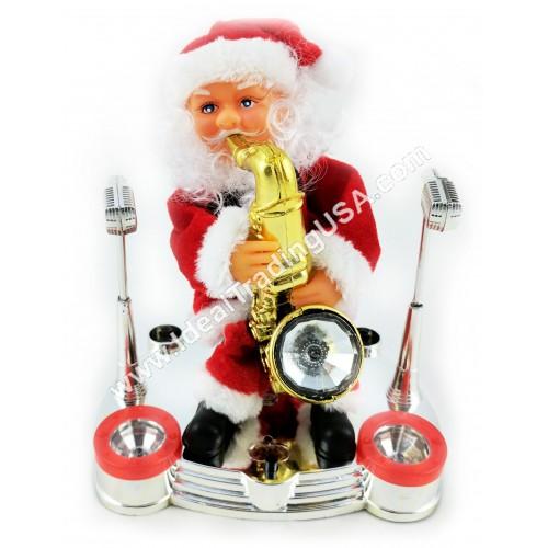 Santa playing saxophone (assorted) (24pcs/Box)