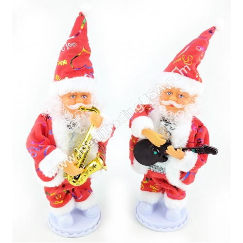 Santa with light and music (assorted) (24pcs/Box)