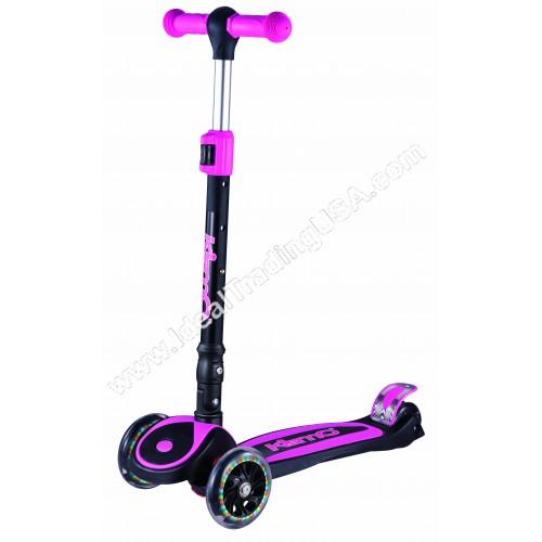 Pink Foldable 3 Wheel Scooter (6pcs/Box)
