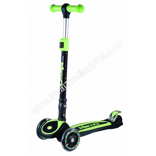 Green Foldable 3 Wheel Scooter (6pcs/Box)
