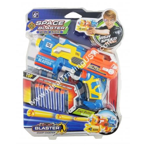 Blaster Space Gun w/ 6 Bullets Blister Pack (24 pcs/ctn)