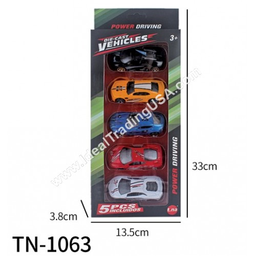 5 pc Metal Die Cast Car (60pcs/Box)