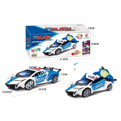 B/O Police Car with 3D lights (36pcs/Box)