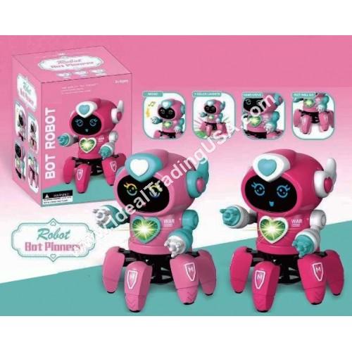 B/O Dancing Octopus Robot Pink color (36pcs/Box)
